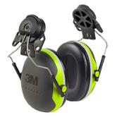 3M Peltor X4P3 Ear Defenders SNR32dB Helmet Attachment Green