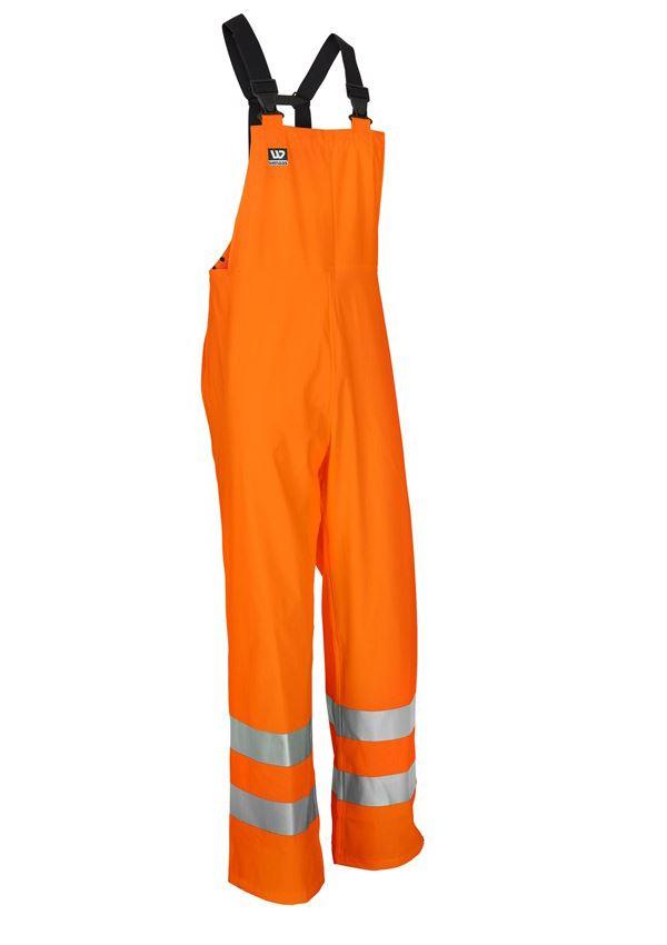 Wenaas Flame Retardant Waterproof Bib&Brace Hi Vis Orange