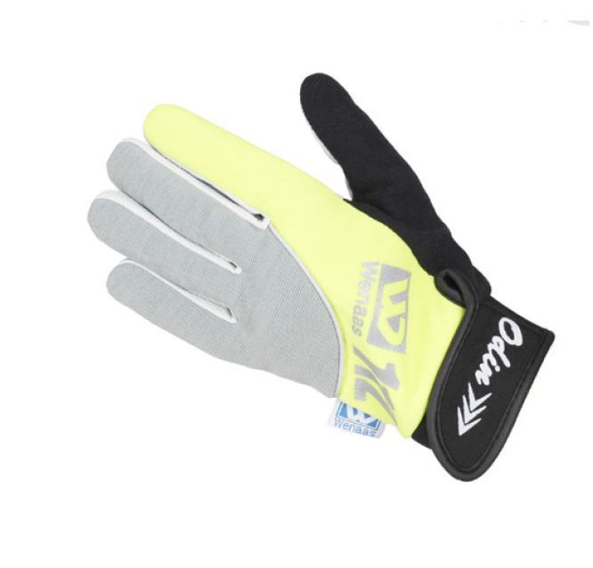 Wenaas W112 Grip+ 6-6320-98 Grey-Hi Vis Yellow Reflective Bands Glove