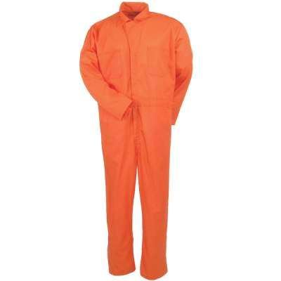Wenaas Lightweight Front Zipper, Triple Stitching Coverall Orange