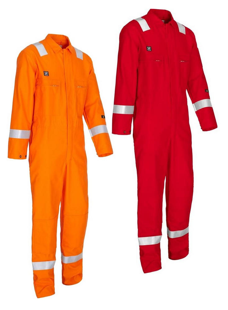 Wenaas Offshore 220gsm Hi Vis Fire Retardant AST Coverall with Kneepad Pockets 80911-10222