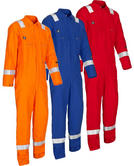 Wenaas Offshore 220gsm Hi Vis FR AST Coverall with Kneepad Pockets 80911-10222 O