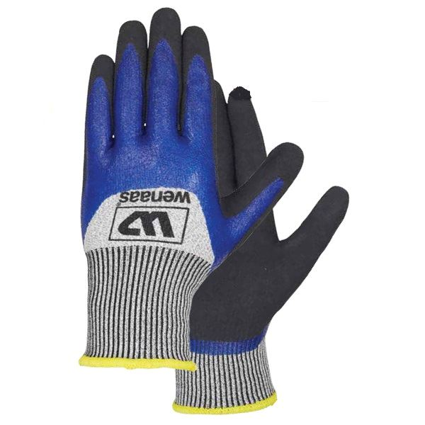 Wenaas Protector-5 6-6912 Abrasion Protection Cut Resistance Nitrile Coated Gloves