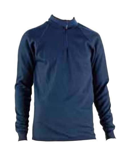 Wenaas Cold Insulation Wool Terry Polo Jersey Zipper 38900-212-05