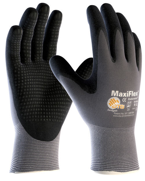 ATG MaxiFlex Endurance Nitrile Palm Coated 34-844 Work Gloves Size 9 Extra Grip
