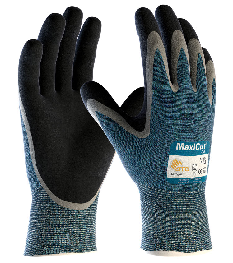 ATG Maxicut 34-404 Oil Resistant Palm Coated Grip Gloves - Size 11