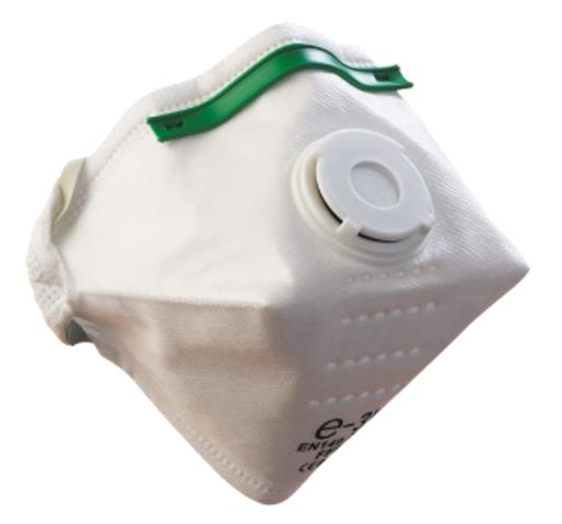 Alpha Solway E-3V FFP3 Fold Flat Design Valved Mask Respirator Disposable White - Pack of 20
