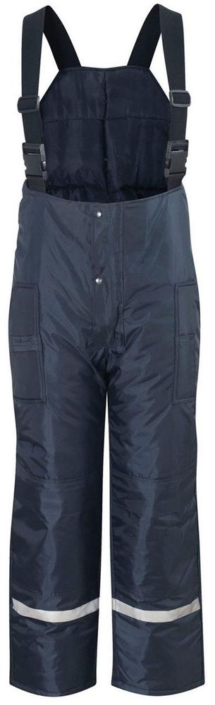 Freezer Salopette Style Work Trousers for Cold Storage Bib Brace Padded Navy