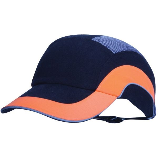 JSP ABR000-00N-500 Fully Adjustable Safety Bump Cap - Black and Hi-Vis Orange