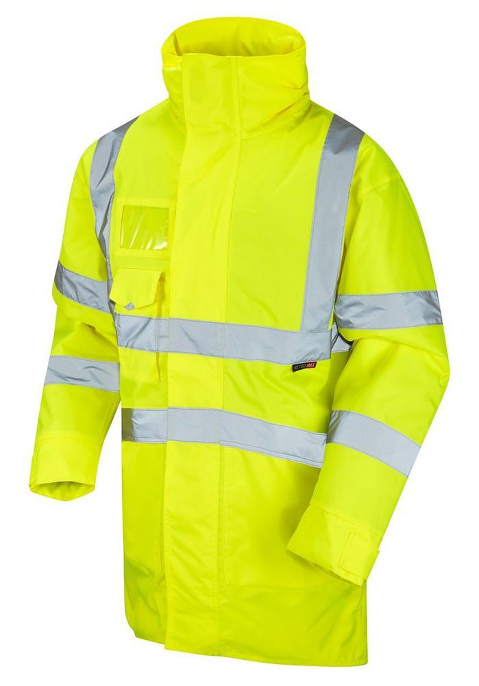 Leo Workwear Marwood A03-Y Hi Vis Breathable Lightweight Anorak - Yellow