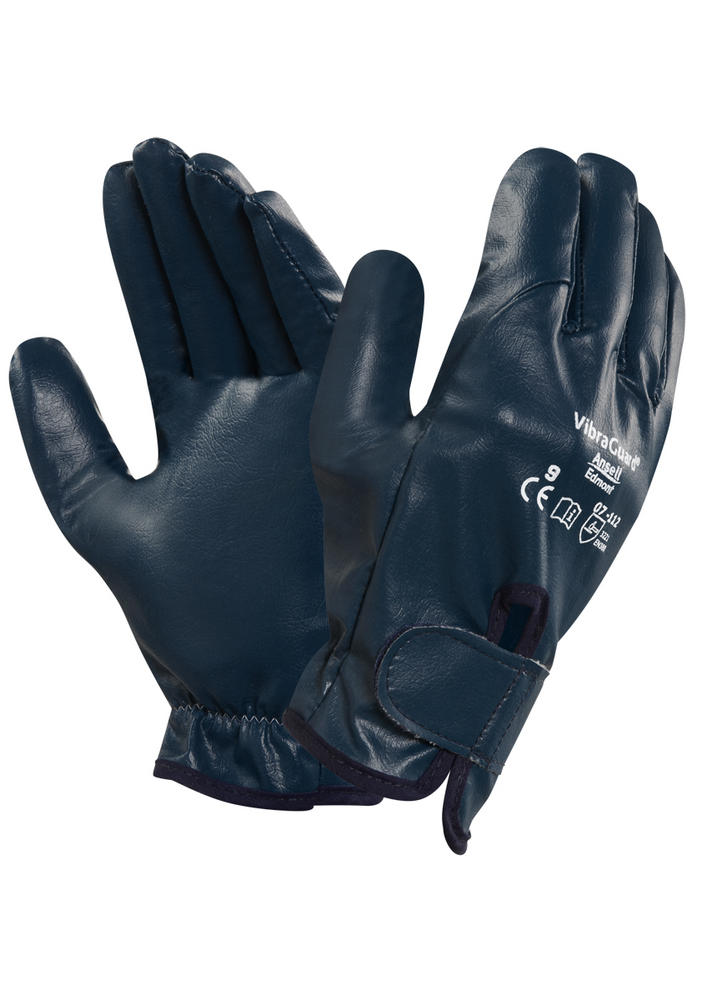 Ansell Vibraguard 07-112 Nitrile Anti Vibration Grip Work Gloves