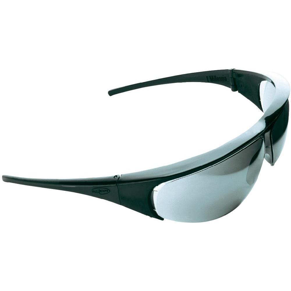 Honeywell 1000005 Millennia Safety Glasses Black Frame Antifog Silver Lens
