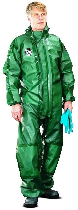 Alpha Solway Alphachem X100 Disposable Coverall Green
