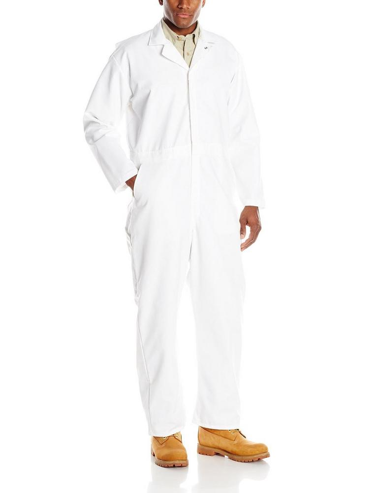 Faithful 202JT White Stud Front Coverall