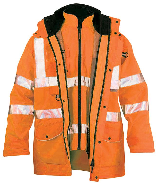Faithful Ripon 7 in 1 Waterproof PU Hi-Vis Bodywarmer Jacket