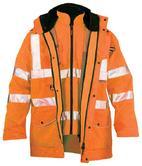 Faithful Ripon 7 in 1 Waterproof PU Hi-Vis Bodywarmer Jacket