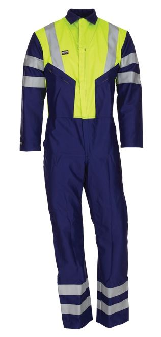 Pioner Firemaster 7 High-visibility FR Coverall Yellow/Navy TTC1040RIGG
