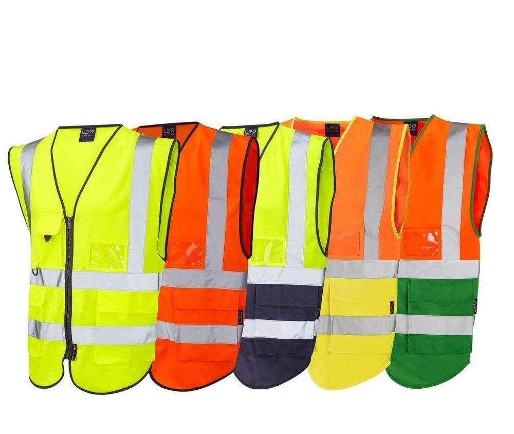 Leo Workwear Lynton W11 Hi Vis Superior 1171 Waistcoat - Various Colours