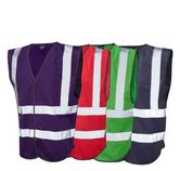 Leo Workwear Pilton W05 Reflective Lightweight Hi-Vis Waistcoat - Various Colour