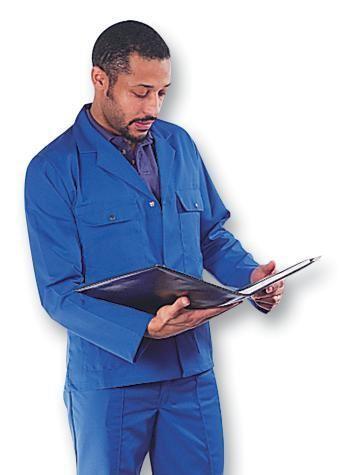 Faithful Work Jacket Club 461 Royal Blue Men Polycotton Multi-Pockets