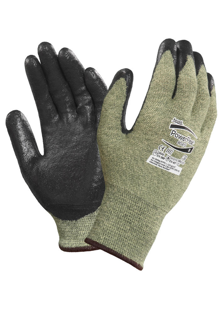 Ansell Powerflex 80-813 FR, Cut 5 Resistant, Arc Protection Work Gloves