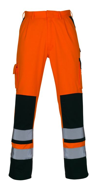 Mascot Trousers Olinda Dirt Resistant 07179-860 Orange/Black (Anthracite) Hi-Vis Kneepad Pockets Work Trousers