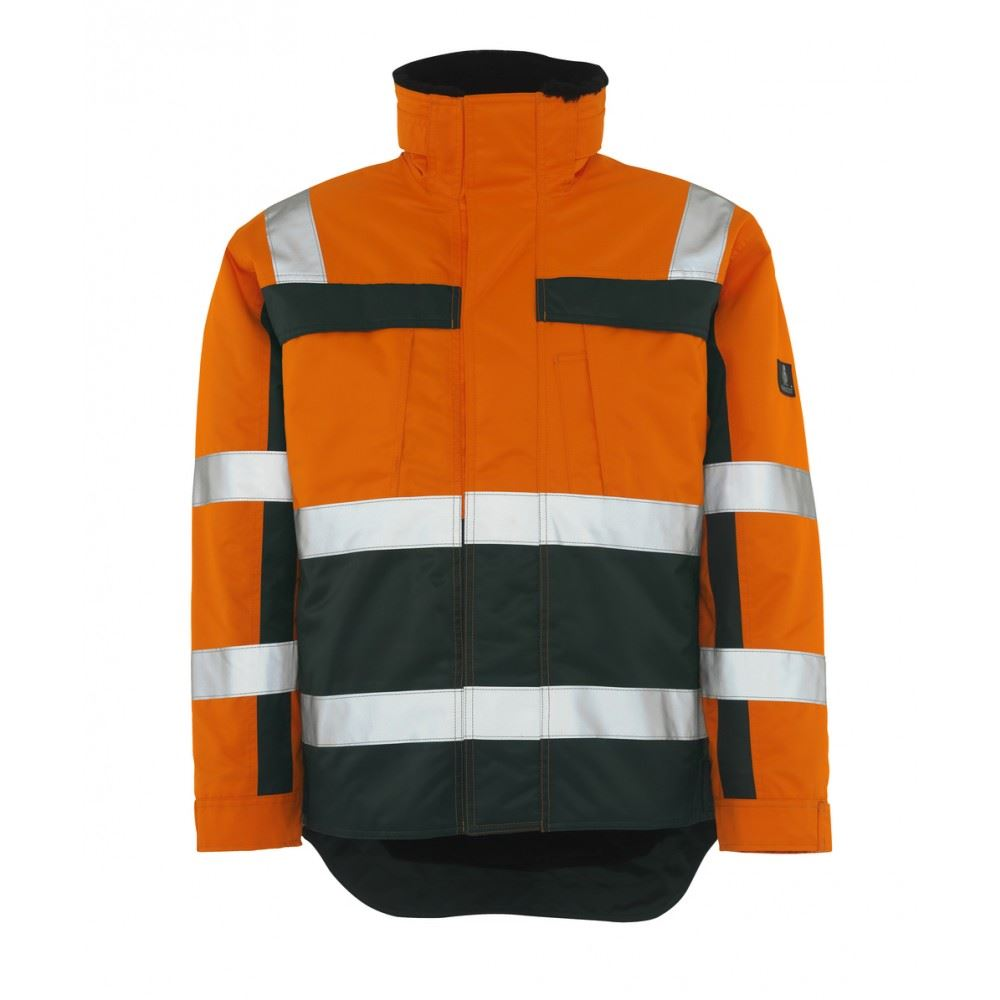 Mascot Teresina 07223-880 Wind & Waterproof Hi Vis Two-toned Reflective Rain Parka Work Jacket