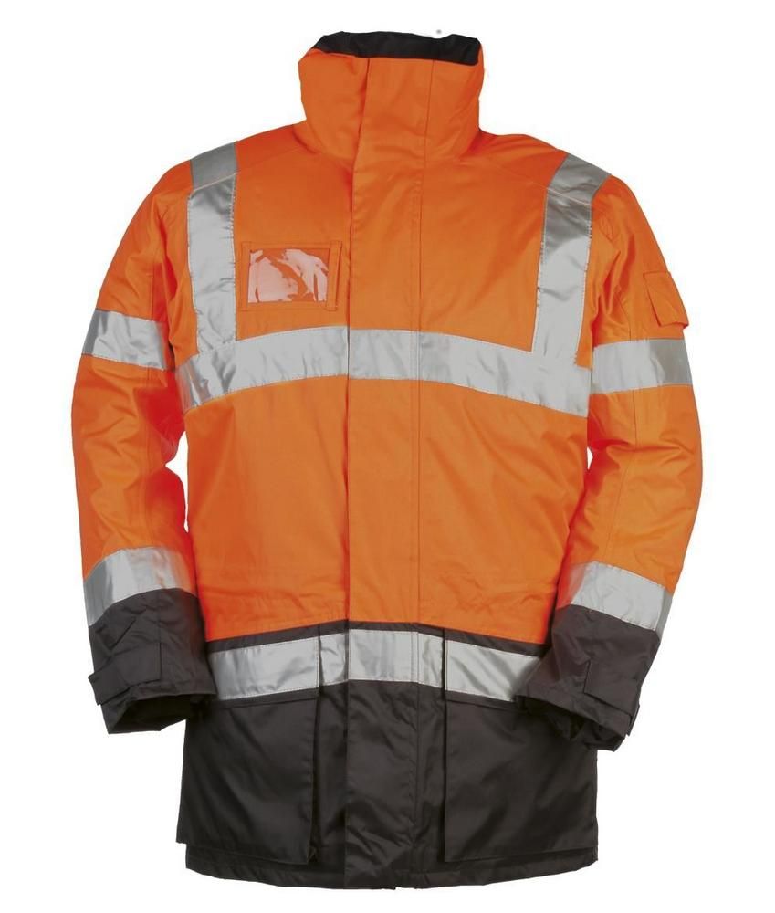 Sioen Lightflash 313A PU Coating Winter Rain Jacket Orange/Navy