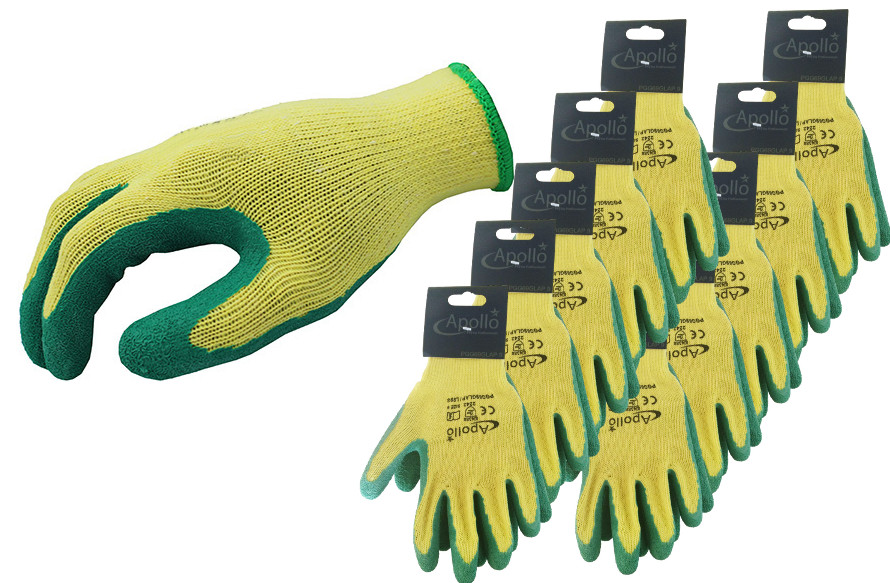Arvello L998 Multi-purpose Green Grip Glove (Pack of 10)