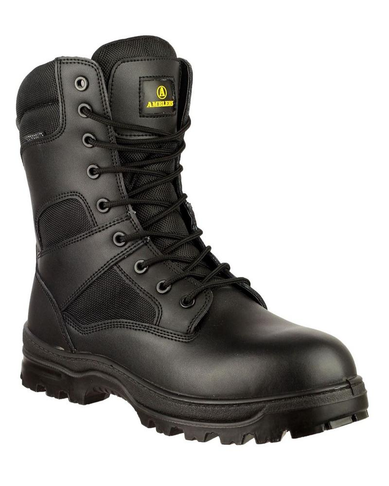 Amblers Waterproof Combat Boot Black