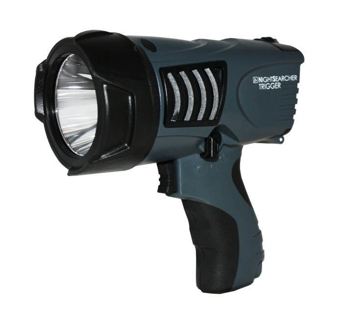 NightSearcher -TRIGGER Rechargeable, Long Distance , High Intensity, Searchlight