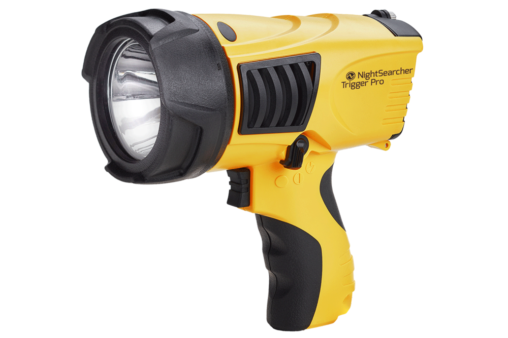NightSearcher TRIGGER PRO Long Distance Lightweight Rechargeable LED Searchlight