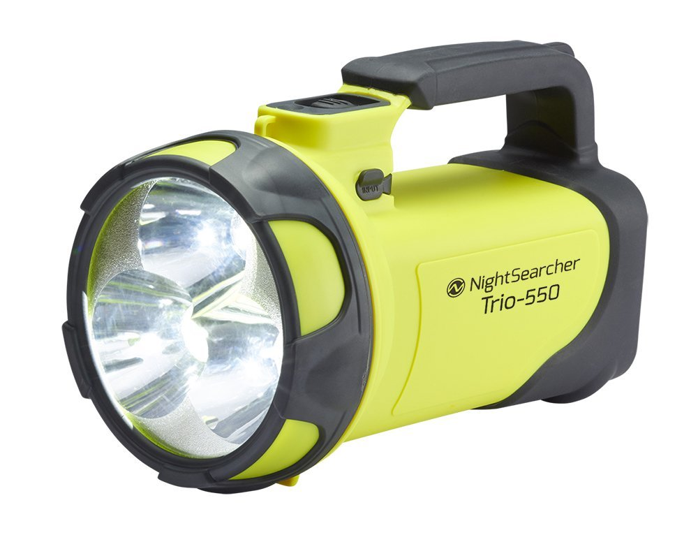 NightSearcher - Trio 550 Yellow Rechargeable LED Hand lamp