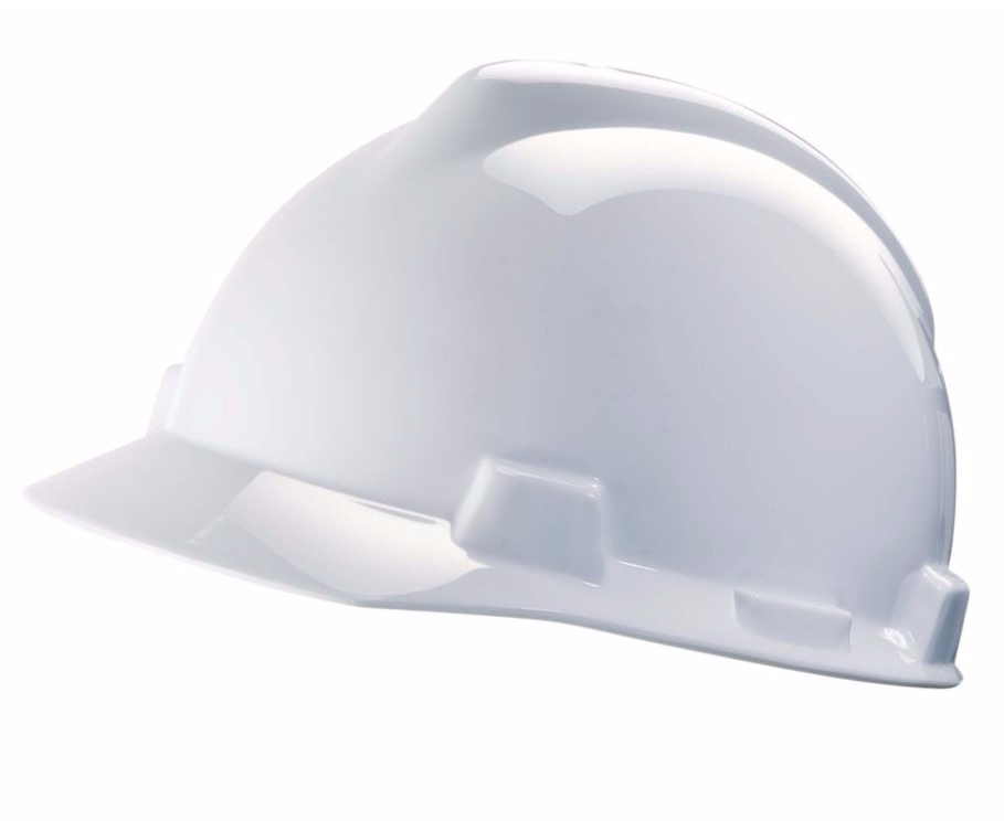 MSA V-Gard Advance Class C Type I Polyethylene HDPE Shell Helmet - White