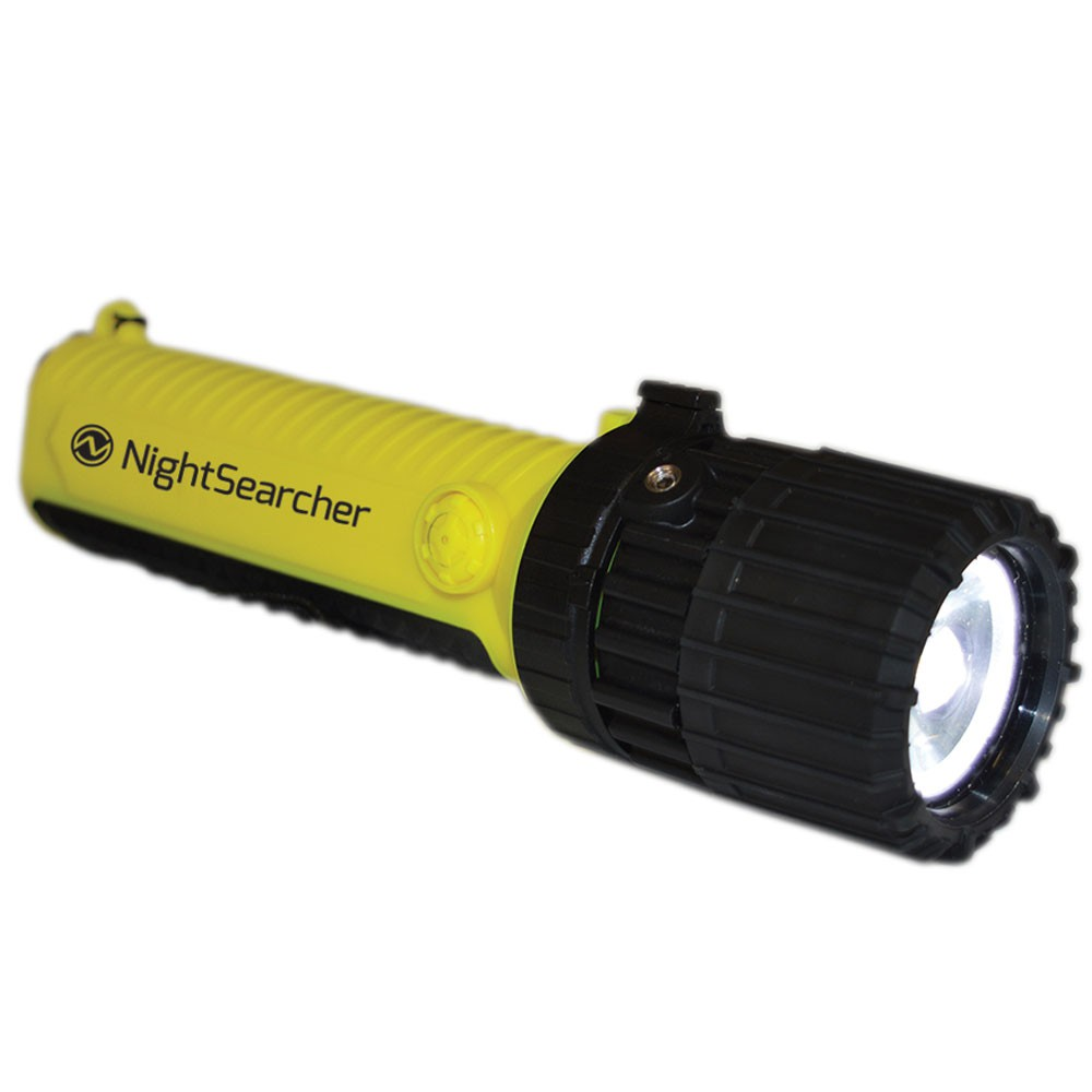 NightSearcher EX-Zoom Atex Intrinsically Safe LED Flashlight - Spot to Flood
