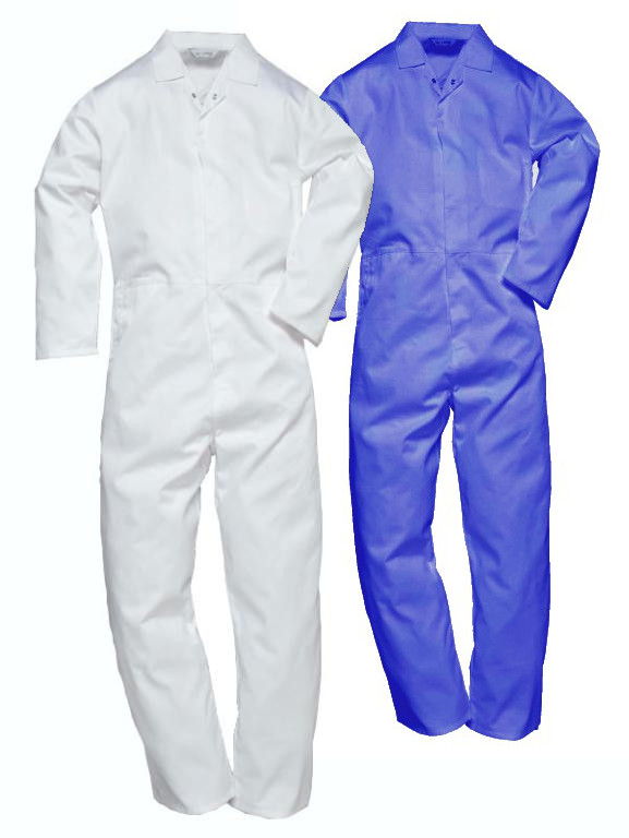 Portwest 2201 Food Boilersuit Royal blue and White