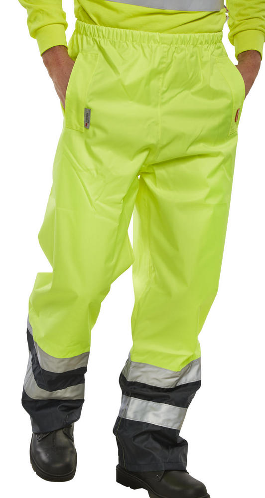 Beeswift Saturn Two-Tone Hi-Vis Weatherproof Overtrousers