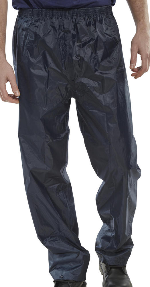 Beeswift NBDTN Nylon PVC Coated Waterproof Work Rain Trousers