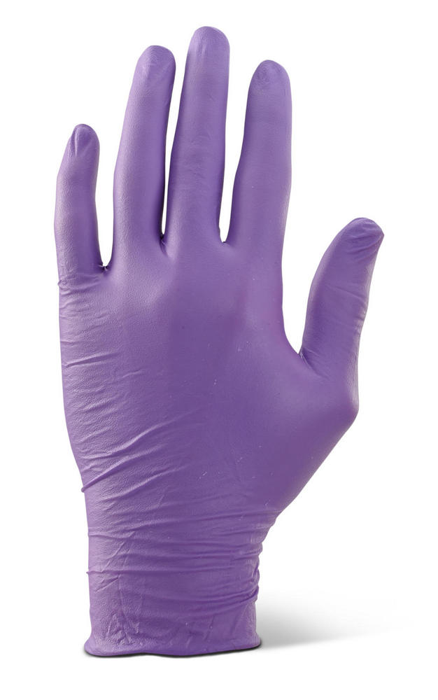 Beeswift NDGPF Powder Free Ambidextrous Purple Disposable Nitrile Gloves