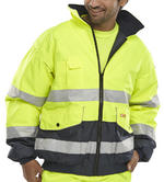 Beeswift EBJ Bomber Europa Detachable Fleece Liner & Sleeves Hi Vis Jacket