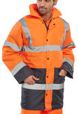 Beeswift Tjstteng Hi Vis Orange / Navy Nylon Lined Jacket