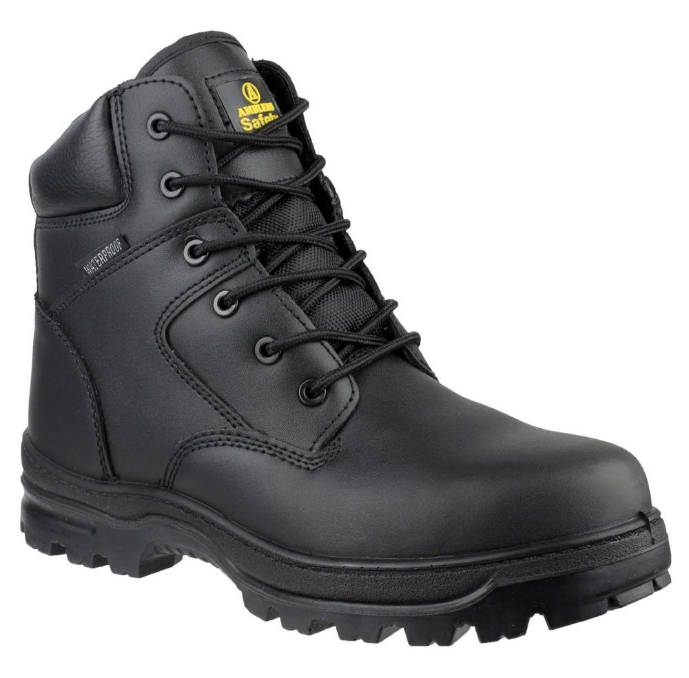 Amblers FS006C Unisex Metal-Free S3 Leather Safety Boot Black