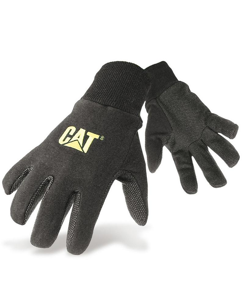 Caterpillar Jersey dotted gloves