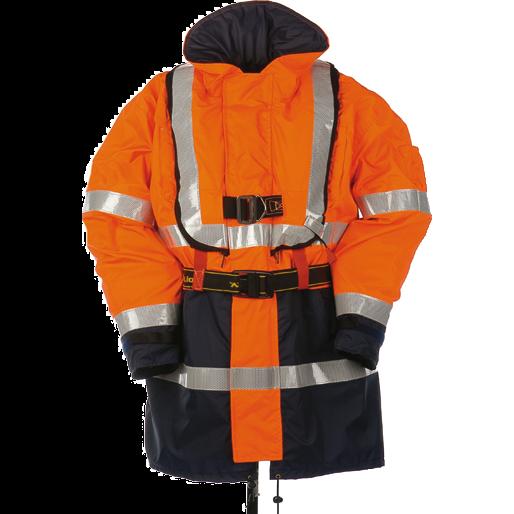 Mullion Harbour 2 Hi Vis Life Jacket Orange/Navy 1MJ9 X Large