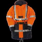 Mullion Harbour-2 Hi Vis Life Jacket Orange Navy 1MJ9, Size - XLarge