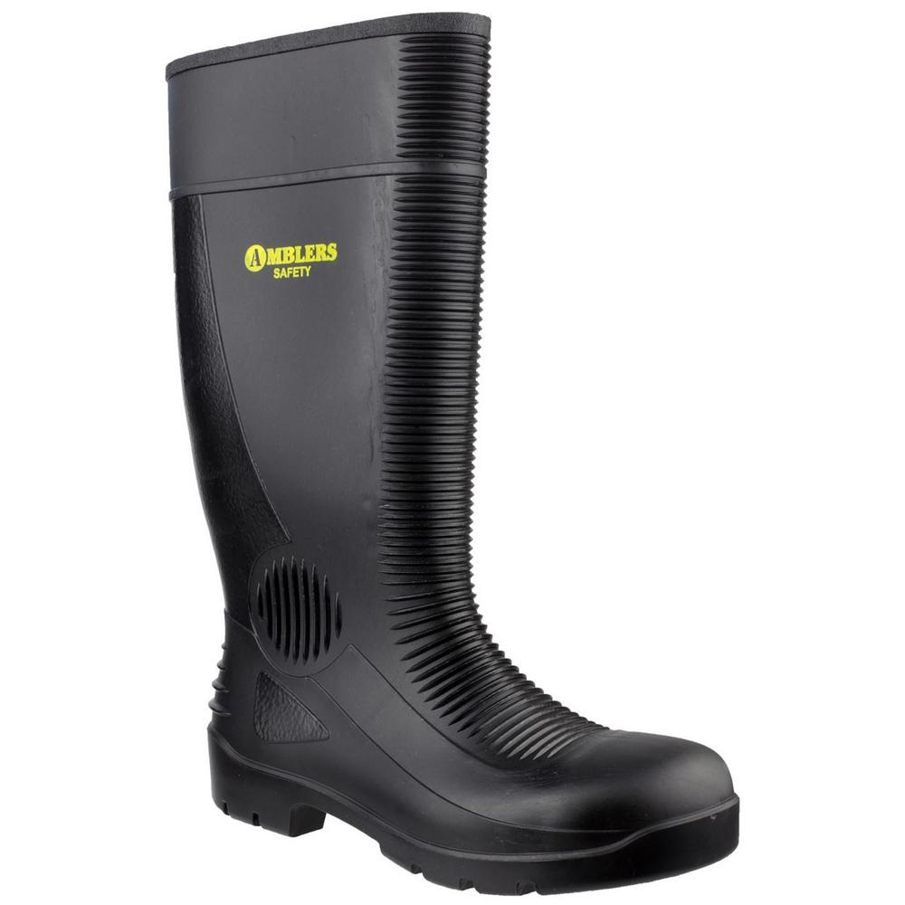 Amblers FS100 Unisex Black Safety Wellington