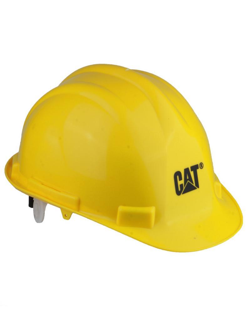 Caterpillar Safety Helmet Hard Hat Unisex CAT One Size Yellow EN 397 Headwear