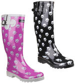 Cotswold Collection Dog Paw Design Ladies Wellingtons