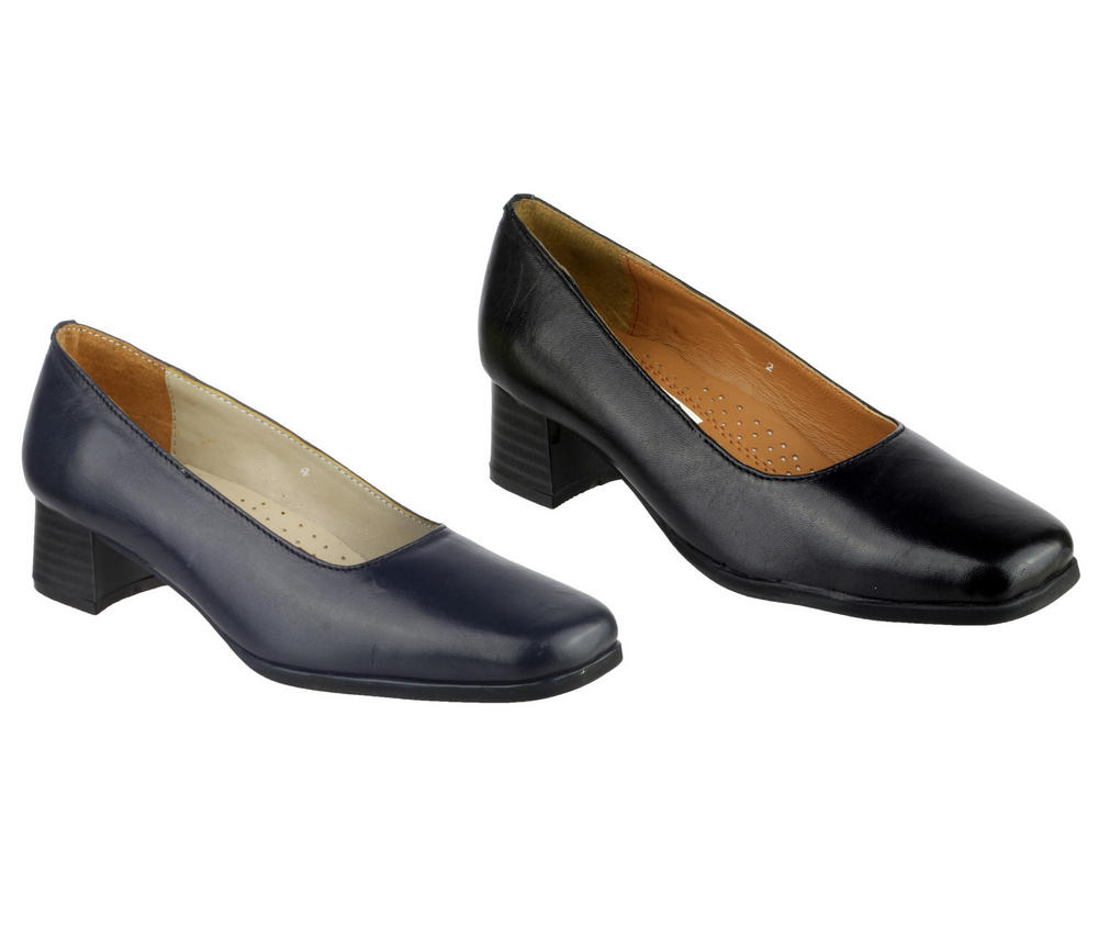 Amblers Walford Ladies Court Shoes Extra Wide Fit