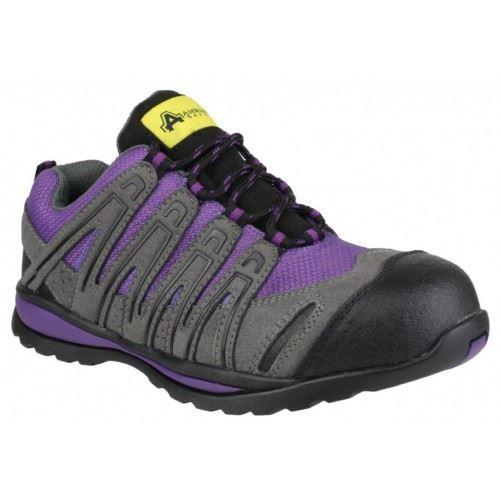 Amblers FS108C Safety Steel Toe Cap Womens Trainers Purple